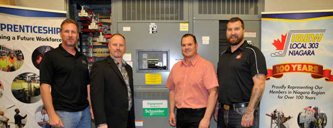 Donation of QED switchboards support  training and development of electrical workers