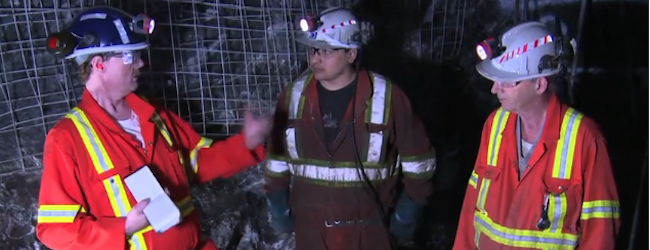 Working at the Rock Face in Underground Mines