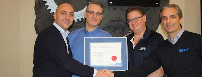 SKF Canada awards Luff Industries SKF Equipped status