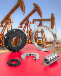 Shaft collars and couplings withstand highly corrosive applications